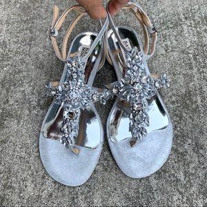 NEW Badgley Mischka Cara Embellished Sandals 5.5